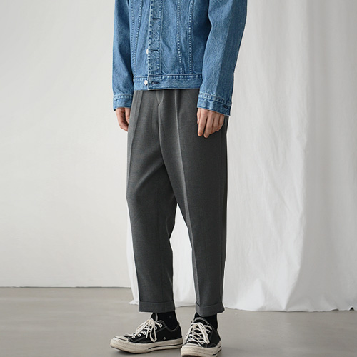 Crop Baggy Slacks