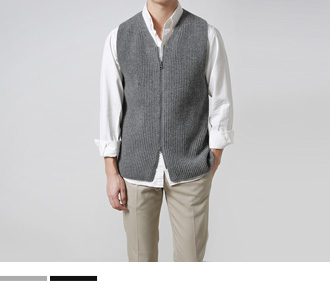 Zip-Up Wool Vest
