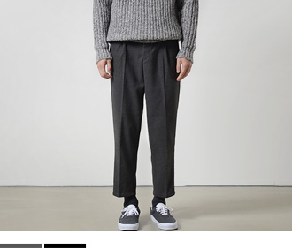 Wide Crop Wool Pants