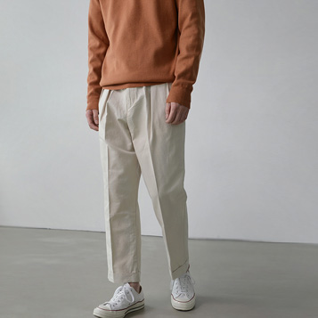 Wide Tuck Pants